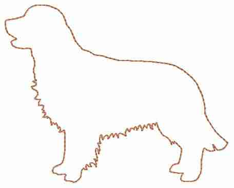 Golden Retriever Embroidery Design for Machine Embroidery Digital Files