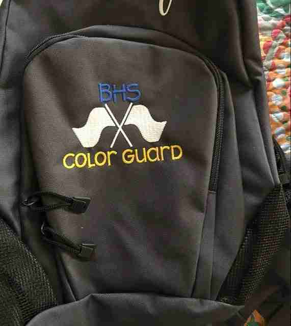Color Guard embroidery design