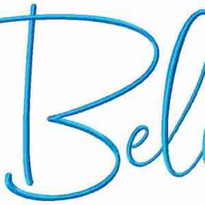 Believe handwriting script word art embroidery design