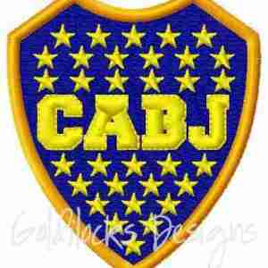 CABJ Soccer Embroidery ITH Patch Design