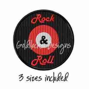 Rock & Roll 50's Sock Hop embroidery design