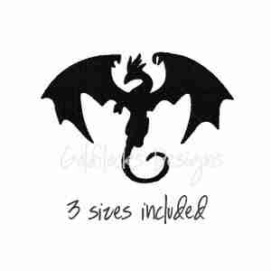 Dragon mystical embroidery design