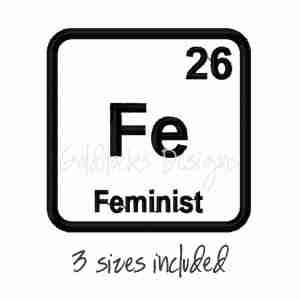 Feminism Feminist Logo Embroidery Design