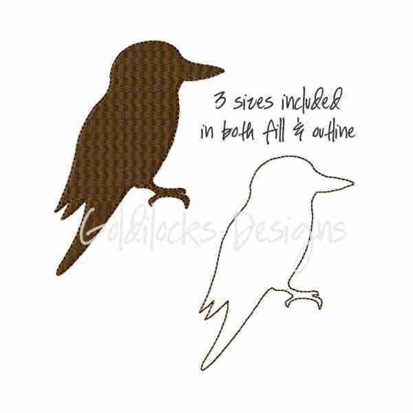 Kookaburra bird Embroidery Design