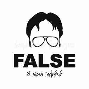 Dwight Schrute Office FALSE Embroidery Design