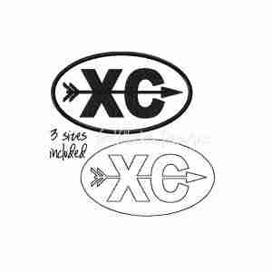 Cross Country running runner logo embroidery design