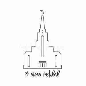 Brazil Manaus LDS Temple sketch embroidery design