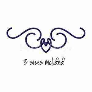 Scroll motif fancy embroidery design