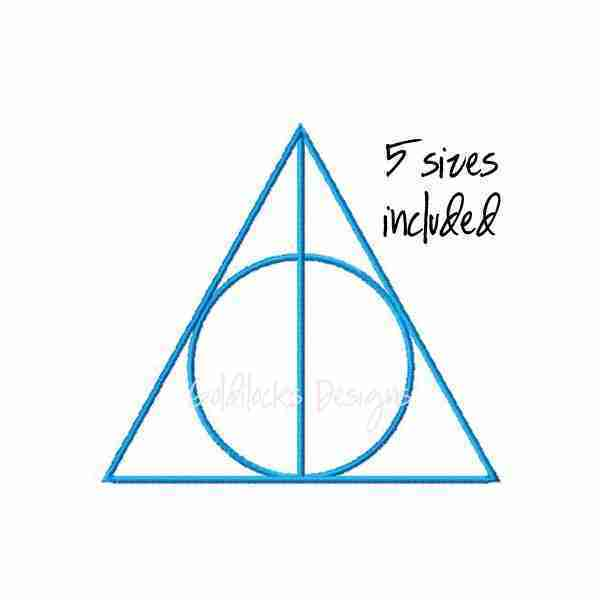 Deathly Hallows Harry Potter embroidery design