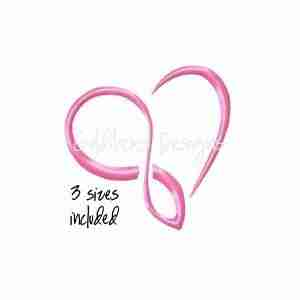 Infinity Heart love wedding embroidery design