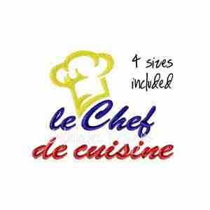 le chef de cuisine apron embroidery design