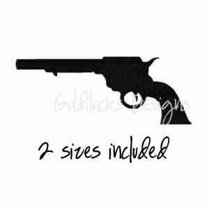 Pistol Gun Firearm Embroidery Design