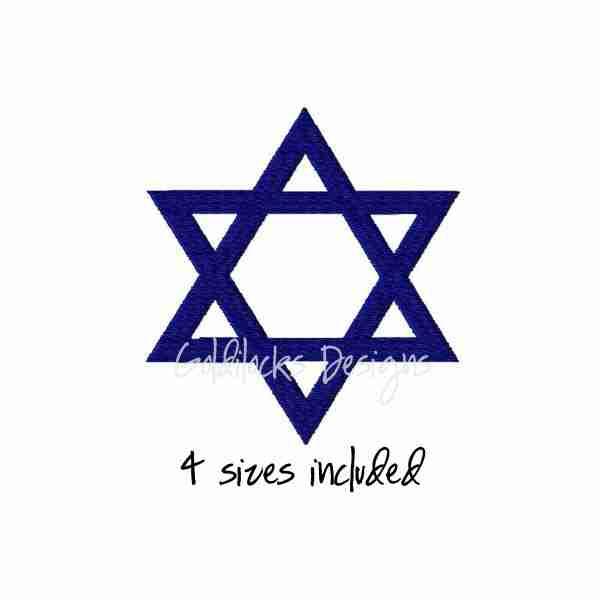 Star of David Jewish Jew embroidery design