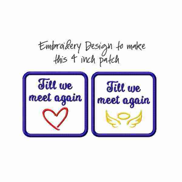 Bereavement Memory Patch Embroidery Design