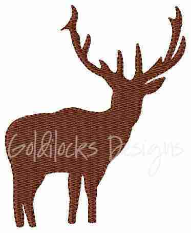 Reindeer deer with antlers embroidery design
