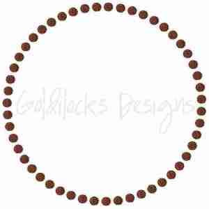 Circle Dots Embellishment Embroidery Design