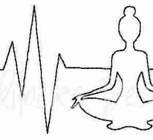 EKG Yoga pose embroidery design