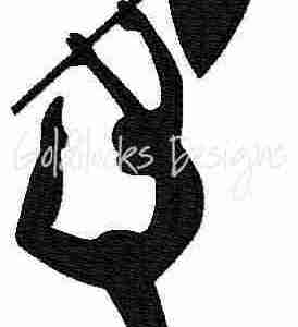 Flag twirler color guard embroidery design