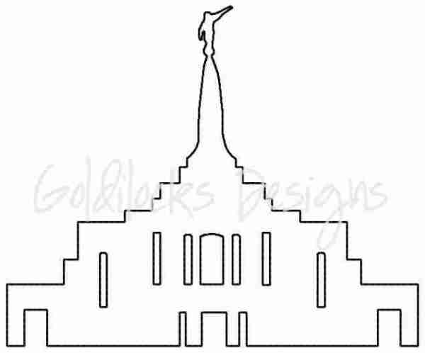 Gilbert AZ LDS Temple sketch embroidery design