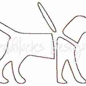 Service guide dog logo embroidery design