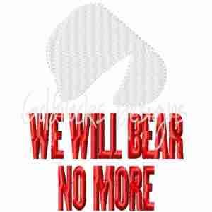 Handmaid's Tale We will Bear no more Embroidery Design
