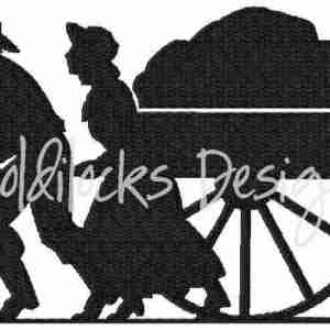 Handcart pioneer trek LDS embroidery design