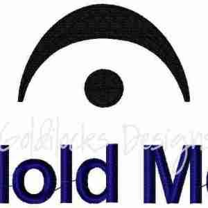 Hold Me cute music baby embroidery design