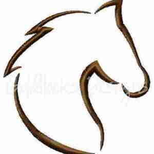 Horse sketch embroidery design