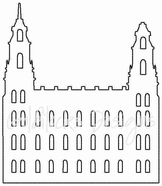Manti UT LDS Temple sketch embroidery design