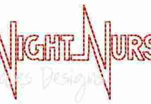 Night Nurse embroidery design