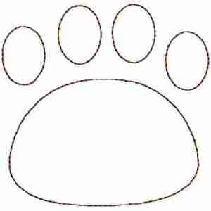 Cat Paw print Embroidery Design