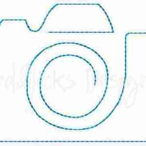 Redwork Camera Embroidery Design