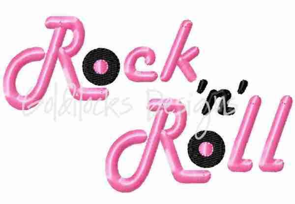 Rock 'n' Roll 50's Sock Hop embroidery design