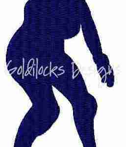 Roller Derby athlete embroidery design