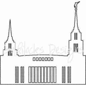 Rome Italy LDS Temple sketch embroidery design