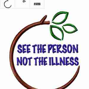 See the person not the illness mental health embroidery design