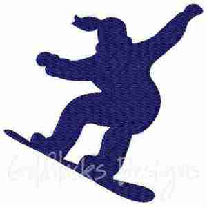 female snowboarding embroidery design