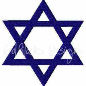 Star of David Jewish Jew embroidery design