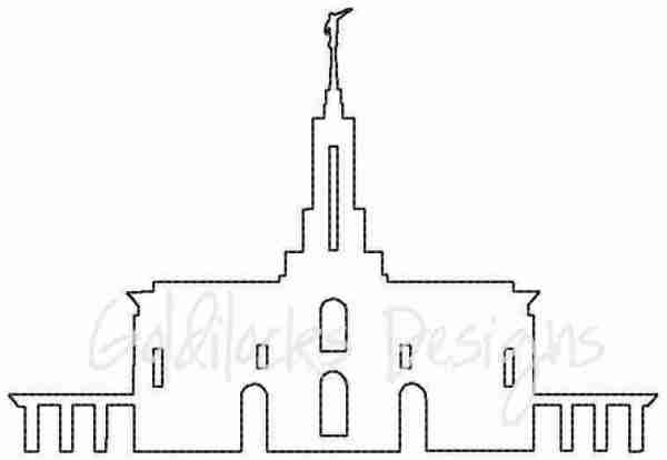 Mt Timpanogos LDS Temple sketch embroidery design