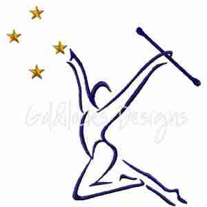 Baton Twirler embroidery design