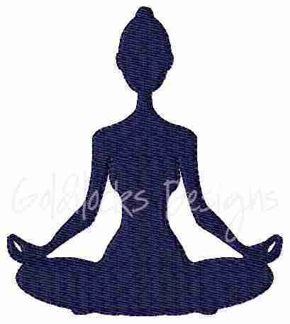 Yoga Lotus Pose Embroidery Design
