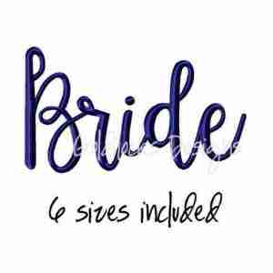 Bride Word Fancy Wedding Embroidery Design