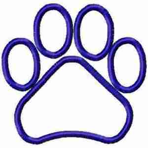 Paw print applique Embroidery Design