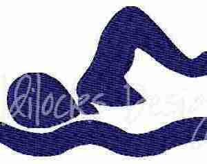 Swimmer logo embroidery design