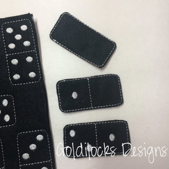 Dominoes Game Embroidery Design